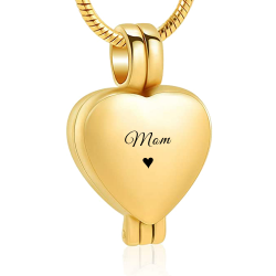 Le Délicat cœur locket doré