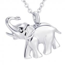 L'éléphant mémorial argenté