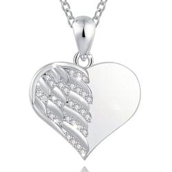 Le cœur ailé diamant STERLING