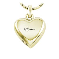 The eternal yellow gold heart
