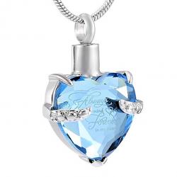 Le cœur topaze bleu