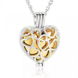 Le cœur cage de l'amour doré
