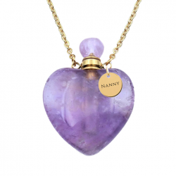The guenuine Amethyst heart