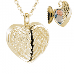 The gold winged heart photo
