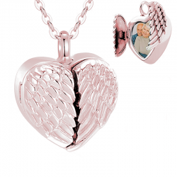 The rose gold winged heart...