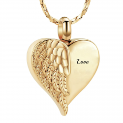 The gold winged heart