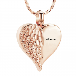 The rose gold winged heart