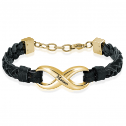 The gold infinity braided...