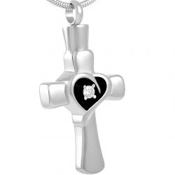 La croix coeur enveloppé