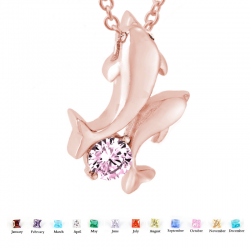The double rose gold dolphin