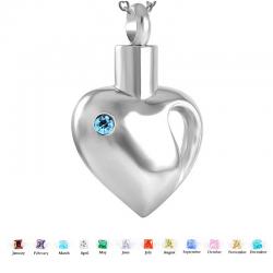 Le cœur ouvert argenté