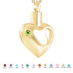 The yellow gold open heart