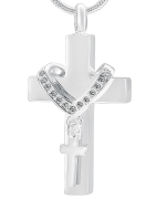 Pendants crematory cross. Engraved and shipped in 48 hours!