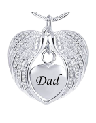 Heart Crematory Pendants, engraved/shipped in 48 hrs!
