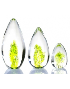 Funeral products in blown glass with integrated ashes